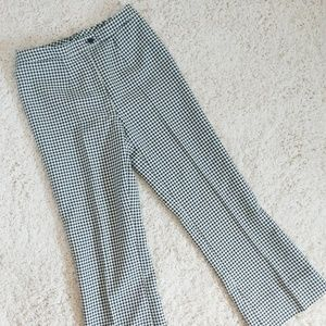 Plaid pleated trousers